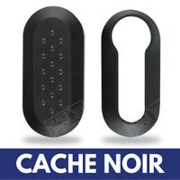 Cache Noir pour Boitier Coque Clé de voiture Télécommande Plip Fiat Bravo