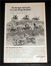 1965 OLD MAGAZINE PRINT AD, HARLEY-DAVIDSON MOTORCYCLES, HIT THE ROAD TO FUN!
