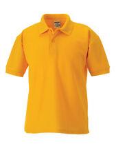 Jerzees Schoolgear PE Plain Kids Polo Shirt Childrens Short Sleeves Tee Tshirt