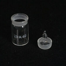 25x40mm Diameter x Height Lab Glass Weighting Bottle with Ground Glass Stopper