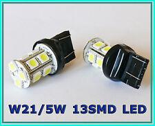 W21/5W 580 7443 T20 WHITE 13 SMD LED STOP TAIL CAR BULBS MAZDA