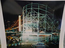 OLD 1960 Cyclone Roller Coaster Coney Island Brooklyn NYC New York City Photo