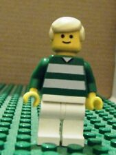 LEGO MINIFIGURE– SPORTS – SOCCER – GREEN & WHITE TEAM #18 – GENTLY USED