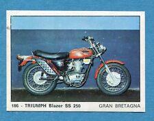 MOTO 2000 - Panini 1972 -Figurina-Sticker n. 186 - TRIUMPH BLAZER SS 250 -Rec