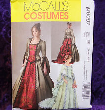 McCall's 6097 Steampunk Victorian Costume Gown 2 Looks 14-20 NEW Uncut Pattern