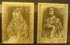 POLAND STAMPS MNH Fi3030-31 Sc2884-85 Mi3178-79 - Polish Kings,1988, clean