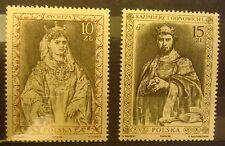 POLAND STAMPS MNH Fi3030-31 Sc2884-85 Mi3178-79 - Polish Kings - 1988, clean