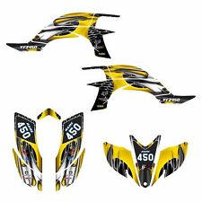 Yamaha YFZ 450 graphics decal kit 2003 - 2008 #4444 Yellow Tribal