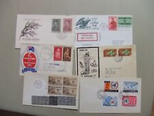 Six '50 Worldwide fdc:Mexico,Liberia,Czecho slovakia,Us insured,Us Scouting