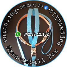 Pettorina SGANCIABILE x Pappagalli 300-549gr - Filo staccabile