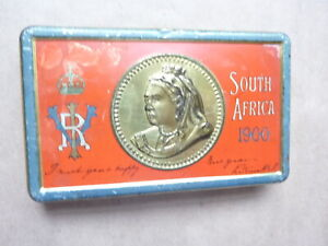 Queen Victoria Christmas Gift Chocolate Tin 1900. Boer War Troops