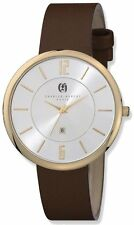 Charles Hubert IP-plated Stainless Steel Silver Dial Quartz Watch
