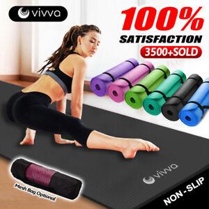 VIVVA 10/15/20MM Thick Yoga Mat Pad NBR Nonslip Exercise Fitness Pilate Gym