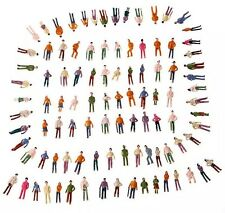 Lot Of 100 New OO Scale 1:75 Mixed Painted People Model Train Figures US Seller