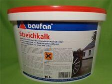 Baufan Streichkalk Kalkfarbe f. Innen + Außen Atmungsaktiv Umweltschonend  10 L