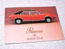 1975 AUSTIN PRINCESS 2200 HLS SALES BROCHURE !!!
