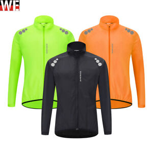 Men's Cycling Windbreaker High Vis Jackets Lightweight Soft Shell Running Top