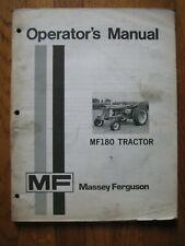 Massy Ferguson MF 180 tractor operators manual ORIGINAL