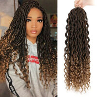 2pack-48 Long Hair Extension Afro Curly Crochet Braids Twist Soft Dreadlocks