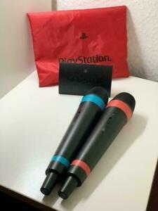 Singstar Mikrofone 2 Stück mit Empfänger PS3 Playstation 3 PS2 Playstation 2