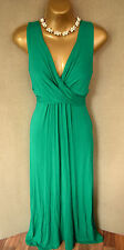 PHASE EIGHT Green jersey style SHONA cross over maxi dress UK 12 cruise wedding?