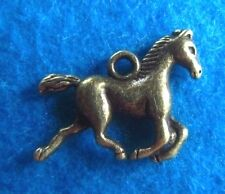 Pendant Horse Charm Running Horse Charm Equine Charm Equestrian Charm Bronze
