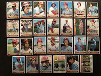 1979 Topps ST LOUIS CARDINALS Complete TEAM Set BROCK Hernandez SIMMONS Reitz