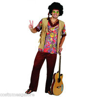 SW Mens Costume Fancy Dress Woodstock Hippie 60's & 70's Peace Necklace Size M L