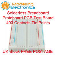 Solderless Breadboard Protoboard PCB Test Board 400 Contacts Tie Points UK