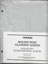 Pkg. 100 Glassine Interleaves for 2 Round Post Scott International