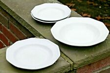 T & R Boote English Ironstone Reverse Inward Facing Ogee Bowl & Plate Set/4 1851