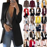 Womens Long Sleeve Button Blazer Comfy Suit Coats Formal Jacket Cardigan Outwear