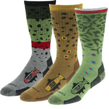 RepYourWater Trout Socks - 3 Fish Prints *New* Large