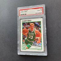 Larry Bird 1991 NBA Hoops #9 Boston Celtics RARE Low Pop Card PSA 9 Mint