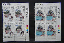 Albania 1997 Europa Tales & Legends set in blocks x 4 MNH