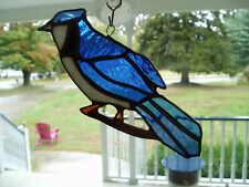 "Stained Glass BlueJay   7""x3"""