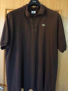 Lacoste Polo Shirt Gr.9 (3xl/4xl) braun