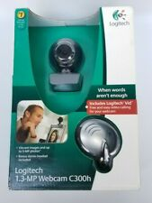 NIB Logitech Webcam Camera C300h - For Easy Video Calling With Wired Headset