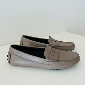 Women's Size 41/(10 M) M.Gemi Pastoso Leather Driver Loafer Taupe