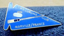 Vintage Curling Club Pin - Marville France 1 WG Curling Club