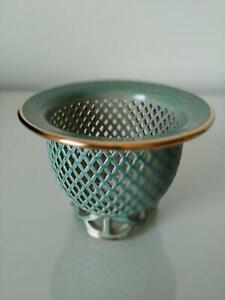 Neofinetia Falcata Vanda Falcata Orchid Sukashi Pot Vase Tenzan Craft H7cm Green