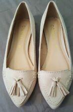CORELLI Beige Pink Flats Pointy Toe Tassels Size 5 B51