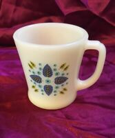 """Vintage Marcrest Alpine Swiss Chalet Coffee Cup 3 1/4"""" Tall FIRE KING"""