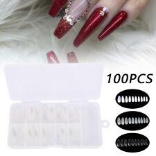 3 types 100Pc/Box Acrylic False Nail Tips Ballerina Full Cover Long Coffin New