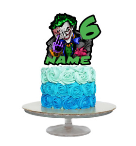JOKER INSPIRED PERSONALISED BIRTHDAY CAKE TOPPER ANY NAME AGE