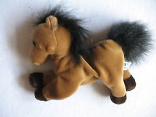 A&A Little Brown Pony Plush With White Spot on Forehead Black Mane & Tail CUTE