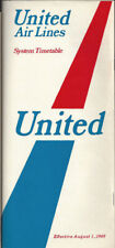 United Airlines system timetable 8/1/69 [0011]
