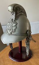 More details for an old original  plated fire  officers, fireman helmet. merryweather pattern.