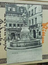 AK Nürnberg Peter-Henlein-Denkmal 1908 gelaufen Ansichtskarte