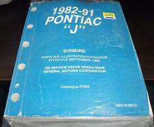 1982 83 84 85 86 87 88 89 90 91 Pontiac Sunbird Parts/Illustrations Book PO66